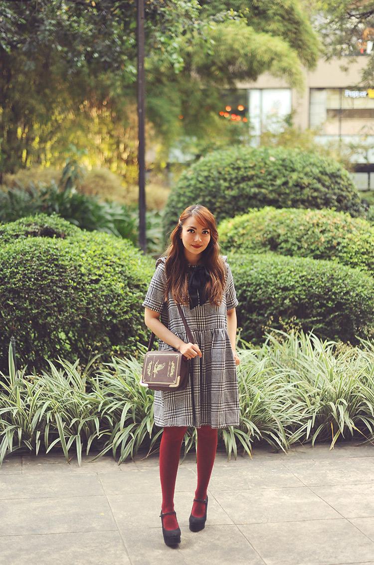 1bestiekonisis-pepaloves houndstooth dress