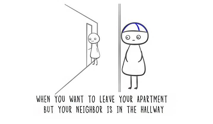 finnish nightmares - neighbor hallway