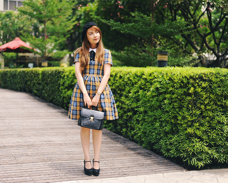 school girl inspired outfit