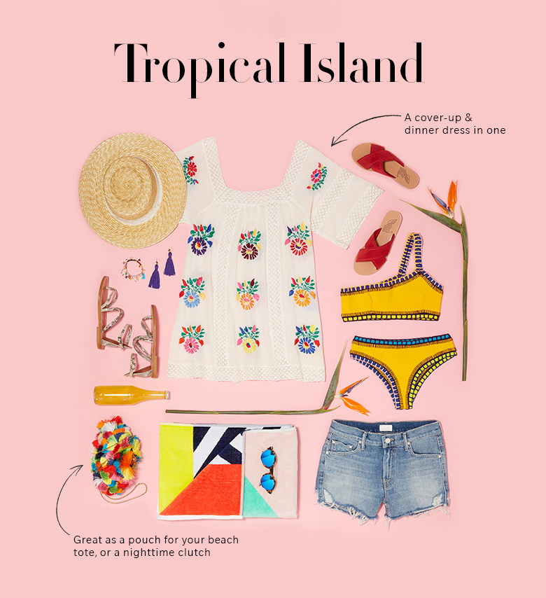tropical vacation essentials