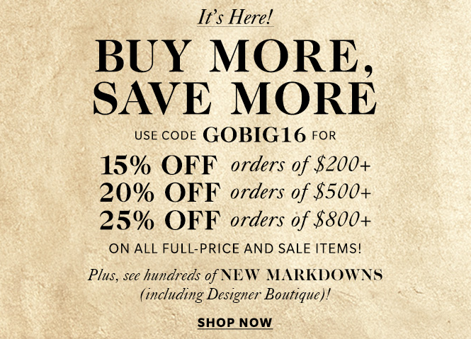 shopbop black friday sale coupon code