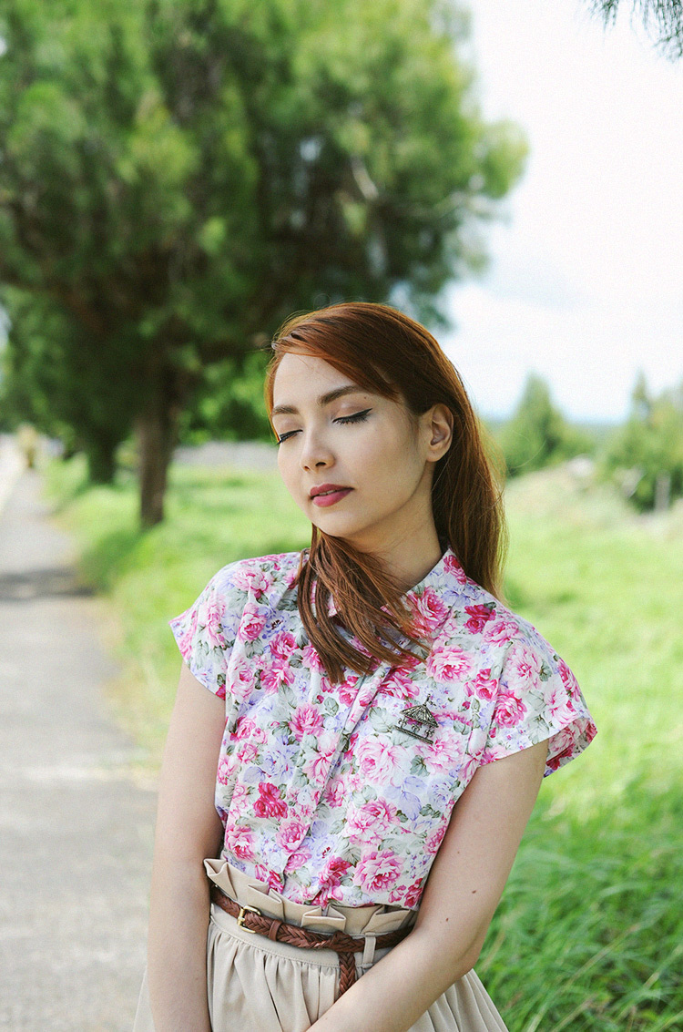 50s floral top