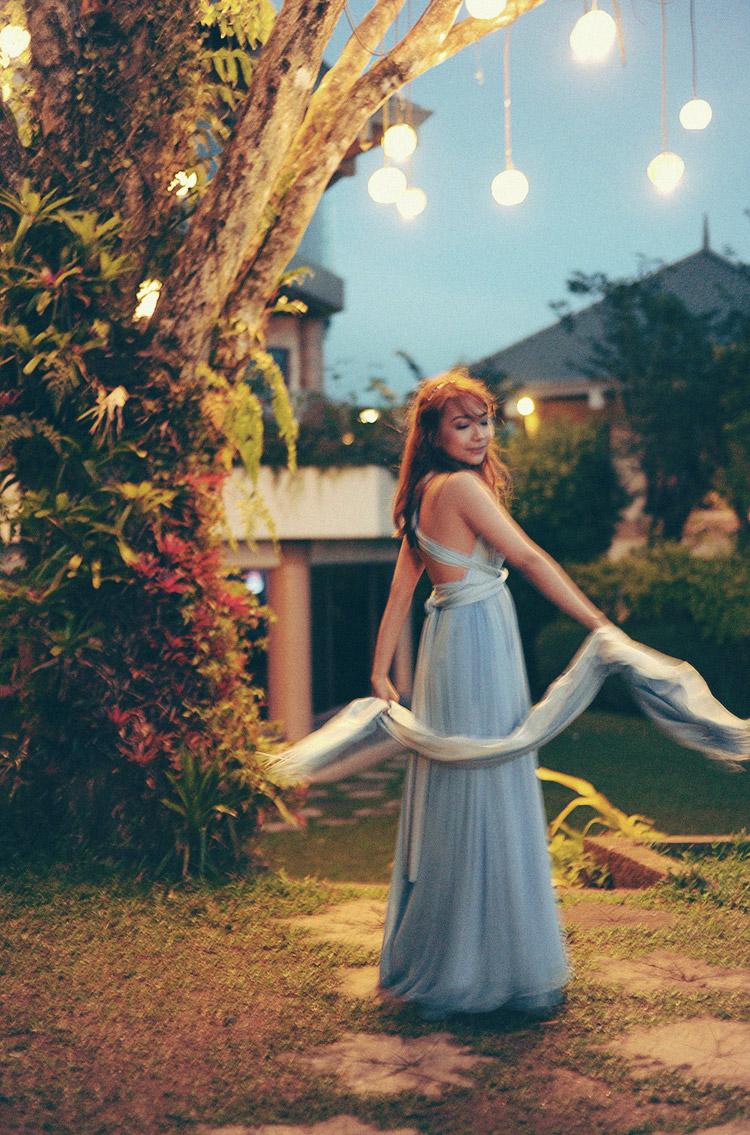 pastel blue infinity bridesmaid dress