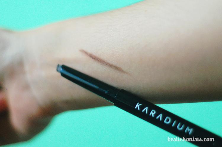 karadium flat eyebrow pencil - 03 real brown - review and swatch