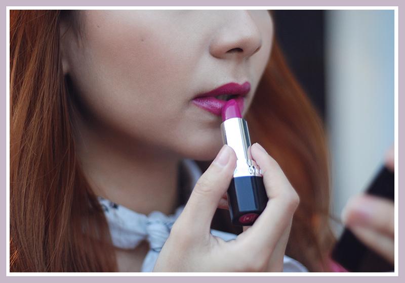 avon lipstick - hot pink