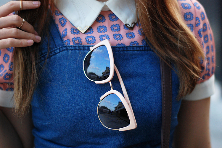 summer outfit with cateye sunnies