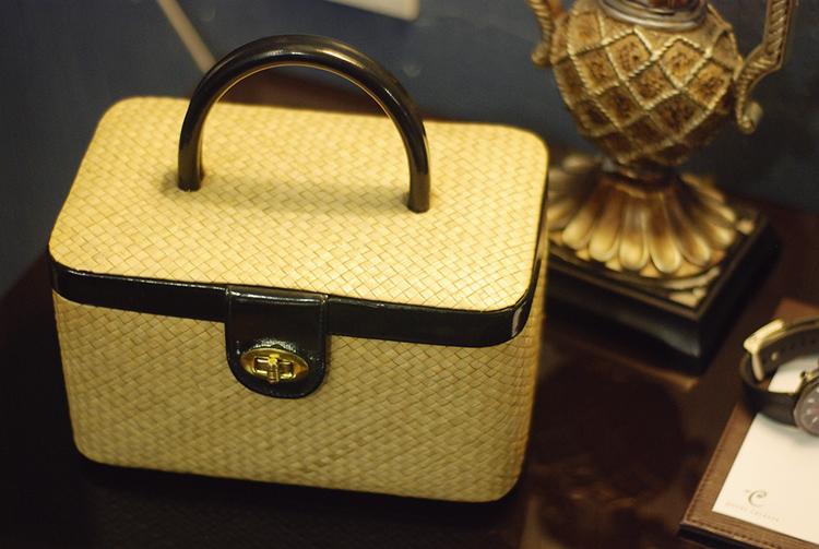 vintage cosmetic basket bag