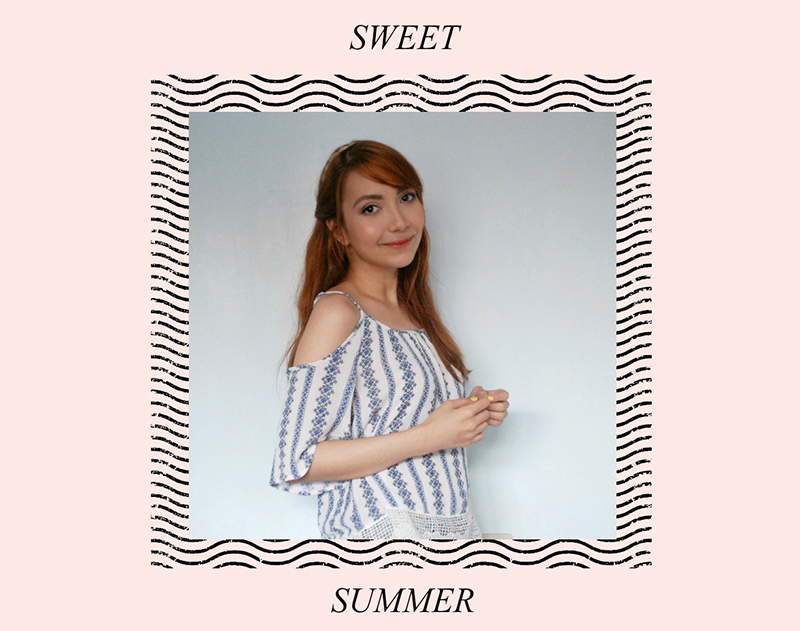 fresh summer makeup - off shoulder, cold shoulder tops