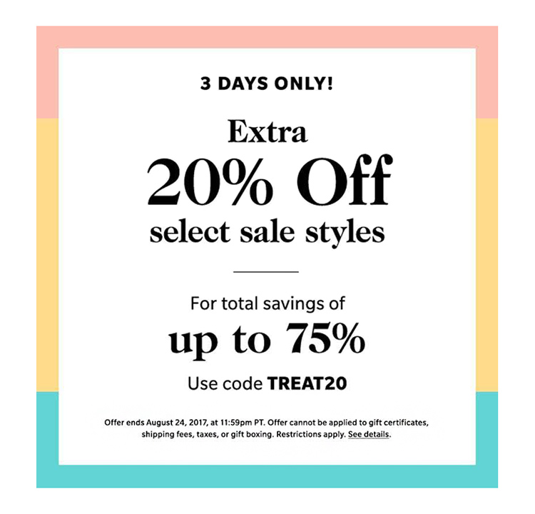 Shopbop Sale on Sale promo code