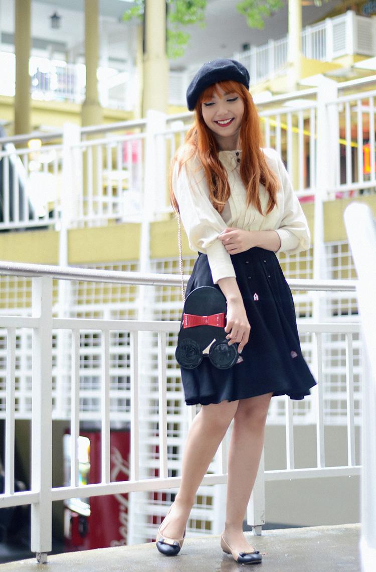 skirt and ballet flats