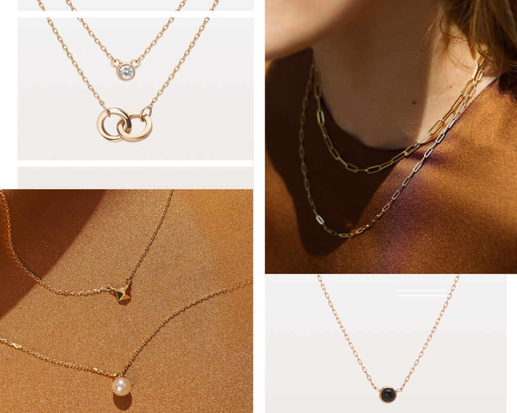 AUrate gold jewelry necklaces